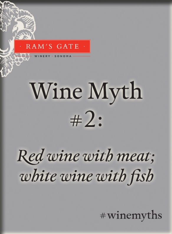 Wine Myth Number Two: Red wine with meat, white wine with fish